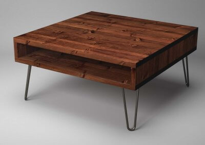 Large Low Coffee Table on Hairpin Legs