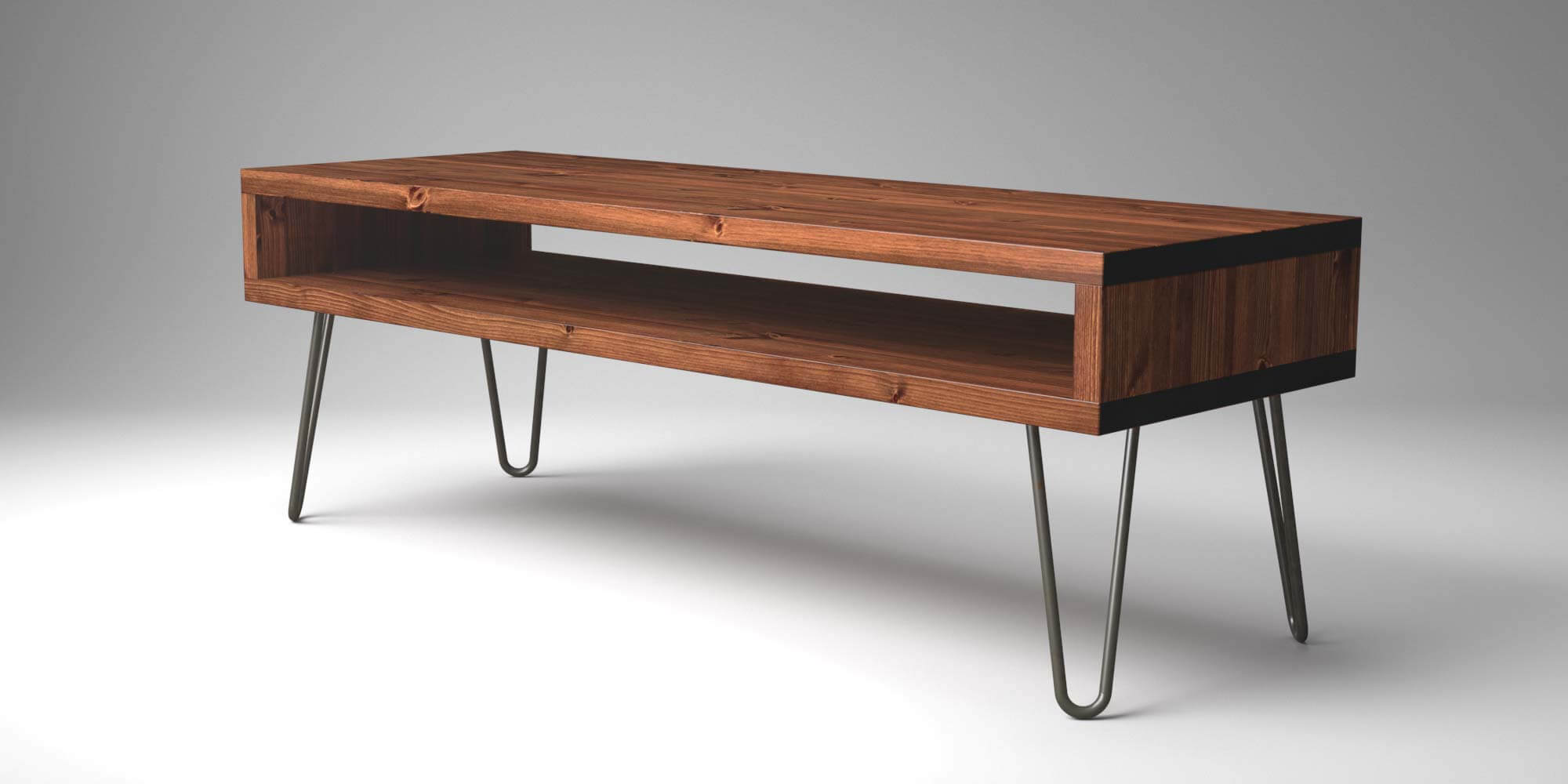 Vintage Retro Hairpin TV Stand