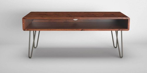 Retro Rounded Edge Hairpin TV Stand
