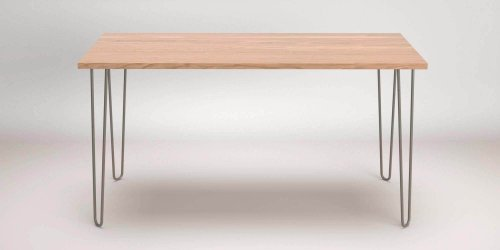Oak Hairpin Desk