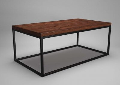 Square Tube Coffee Table Walnut & Black