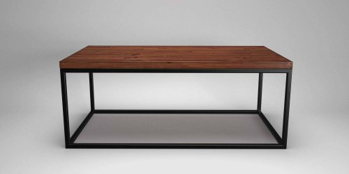 Steel Frame Coffee Table Black