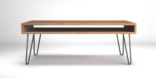 Oak Coffee Table on Hairpin Legs.