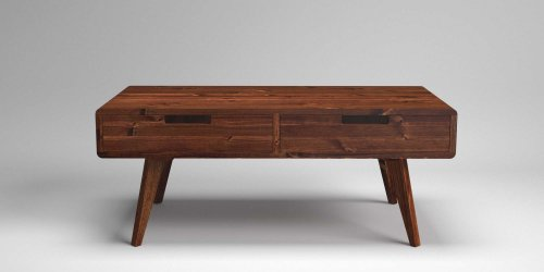 Scandi Leg Through Drawer Coffee Table