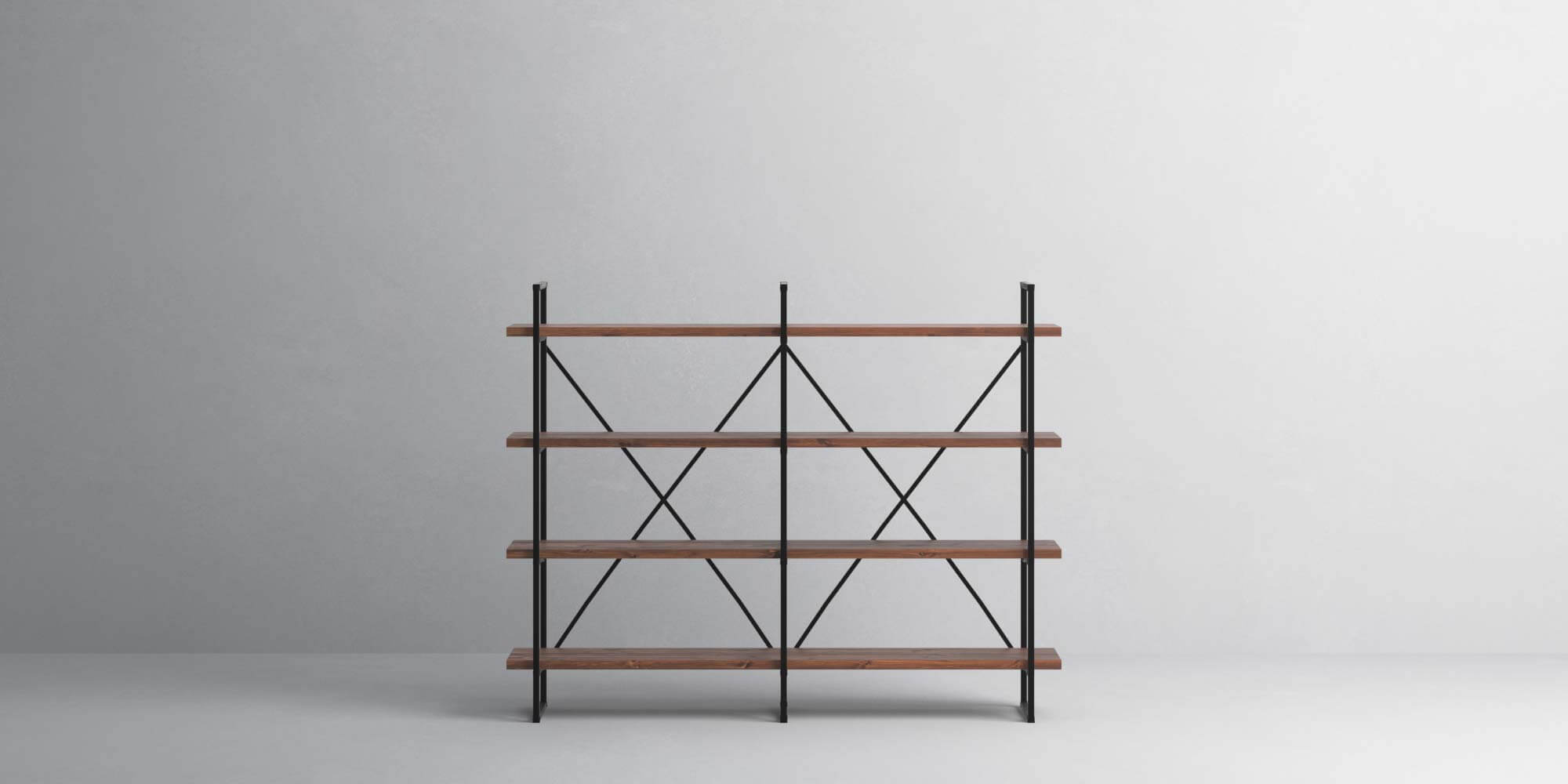 4-Shelf-30mm-Walnut-Double-Front