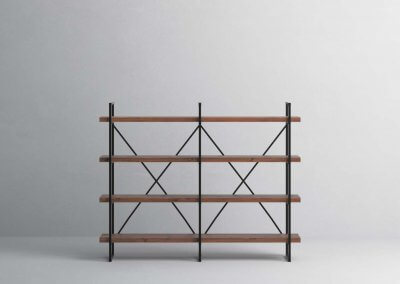 4-Shelf-40mm-Walnut-Double
