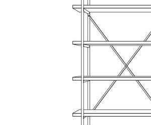 4 Shelf Modulo Shelving Units