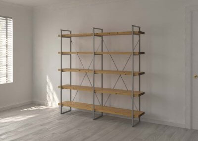 5 Shelf 40mm Oak Double Room12