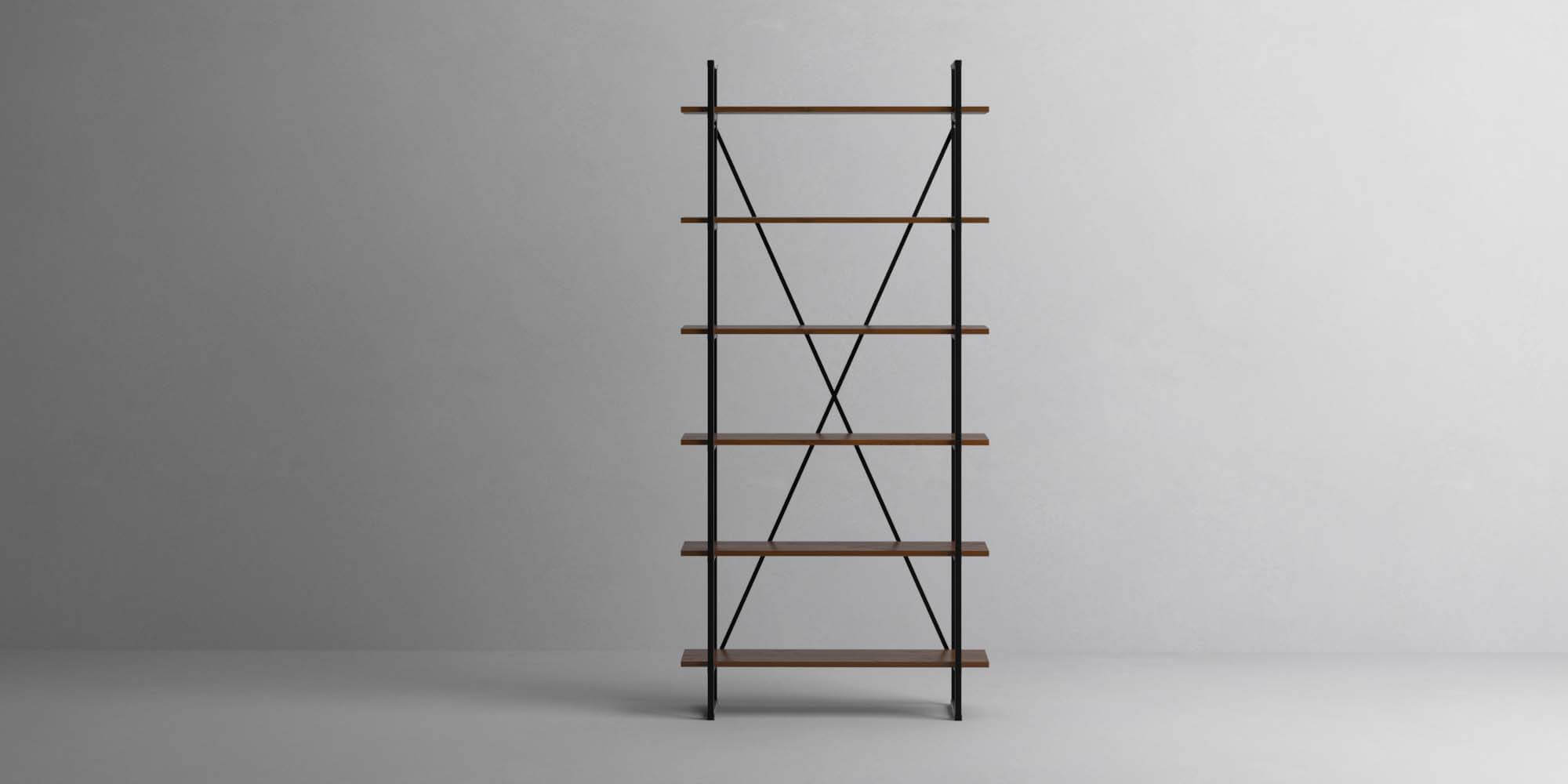 6 Shelf 18mm Walnut Single Front