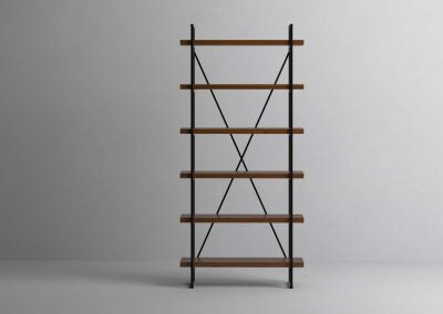 6 Shelf 40mm Walnut Single Front