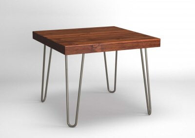 Hairpin Side Table Walnut & Bare