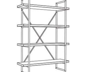 Single Bay Modulo Shelving Units (100cm wide)