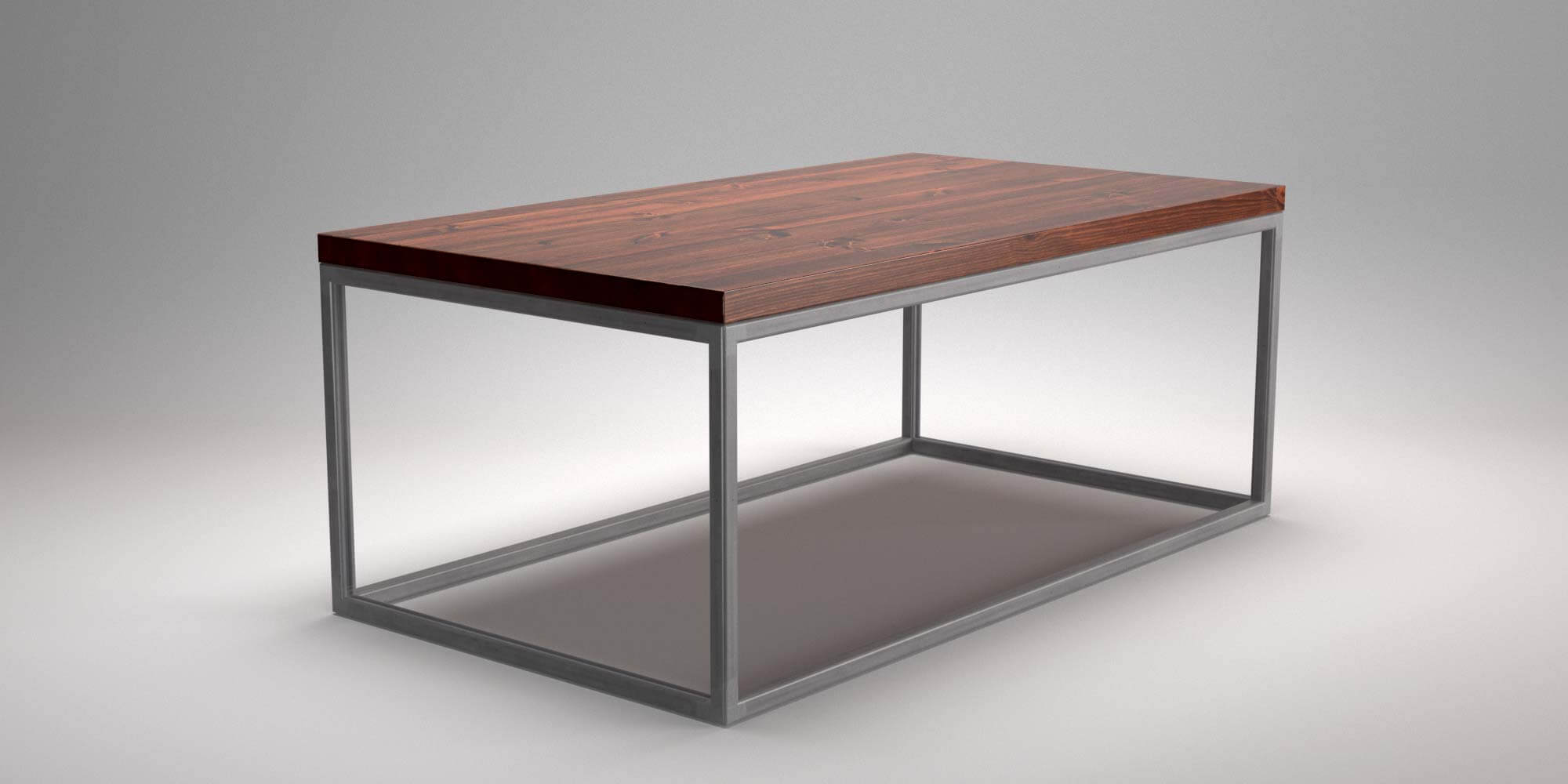 Material Coffee Table.Industrial Square Tube Coffee Table Bare Steel
