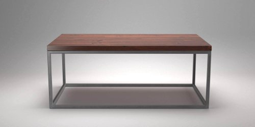 Steel Frame Coffee Table Pine