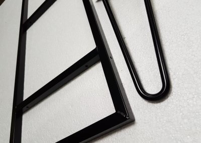 Black Powder Coated Square Section & Hairpin